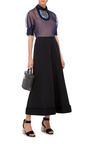 Embellished Collar Sheer Blouse by DELPOZO Now Available on Moda Operandi
