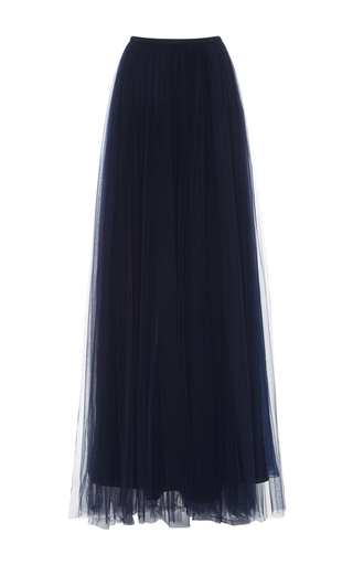Medium delpozo navy tulle maxi skirt