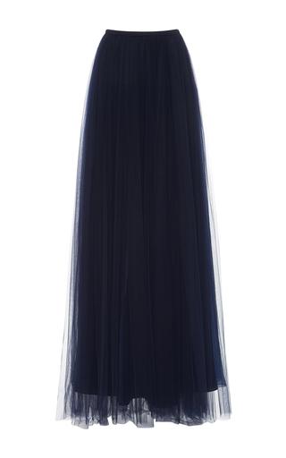 Medium delpozo navy tulle maxi skirt