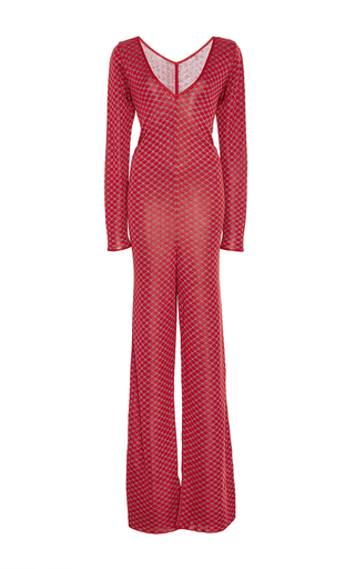 Medium pepa pombo red red wrap front jumpsuit