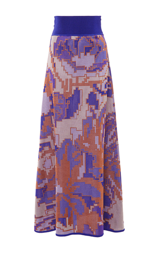 Medium pepa pombo multi printed a line skirt