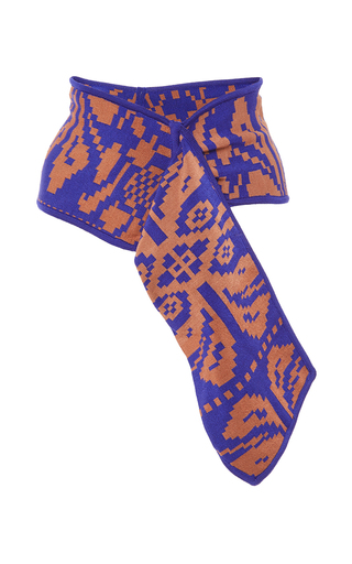Medium pepa pombo blue printed sash