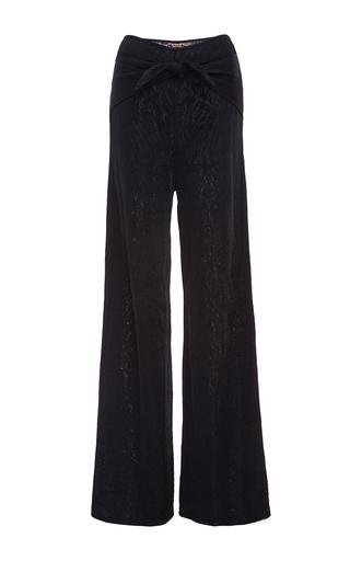 Medium pepa pombo black wrap front pant