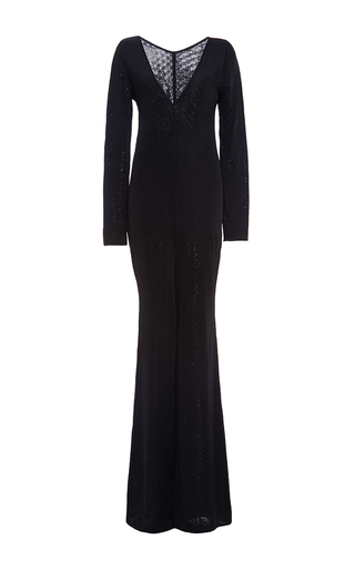 Medium pepa pombo black black wrap front jumpsuit