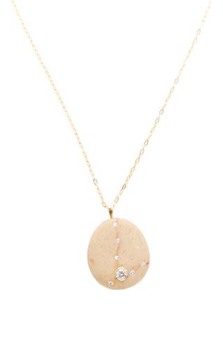 Medium cvc stones brown one of a kind playa union necklace
