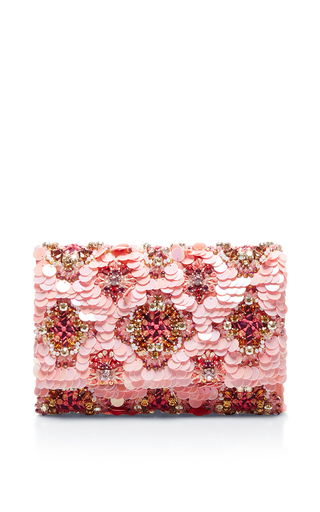 Medium oscar de la renta light pink soft petal petite evening clutch  2