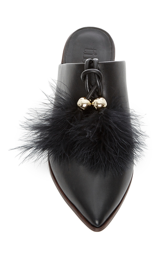 Sofie Feathered Flats by TIBI Now Available on Moda Operandi