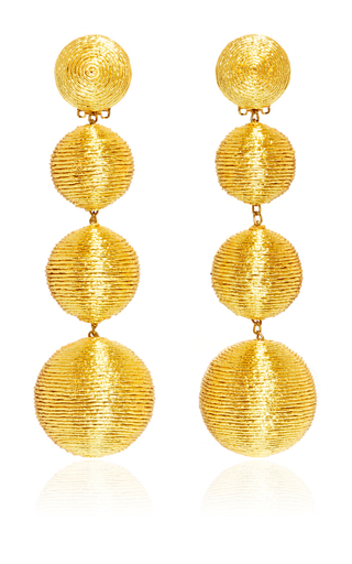 Medium rebecca de ravenel gold les bonbons earrings  6