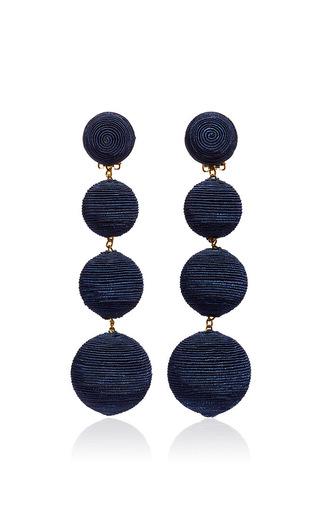 Medium rebecca de ravenel navy les bonbons earrings  5