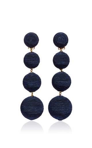 Medium rebecca de ravenel navy les bonbons earrings  5