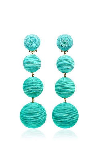 Medium rebecca de ravenel green les bonbons earrings  4