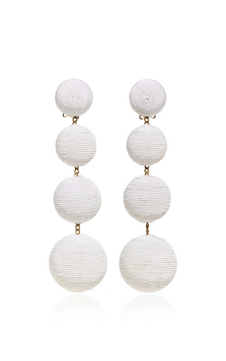Medium rebecca de ravenel white les bonbons earrings  3