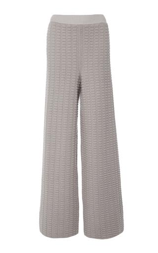 Medium alena akhmadullina light grey light grey basketweave knit trouser