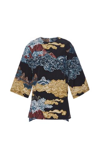 Medium alena akhmadullina black mountainscape three quarter shirt
