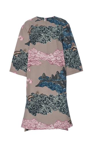 Medium alena akhmadullina light grey mountainscape three quarter shift dress