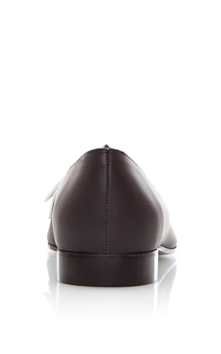 PAULE KA Noir Bicolor Knotted Calfskin Loafer