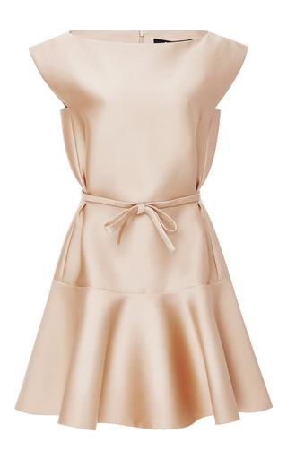 Medium paule ka nude duchesse satin flared dress