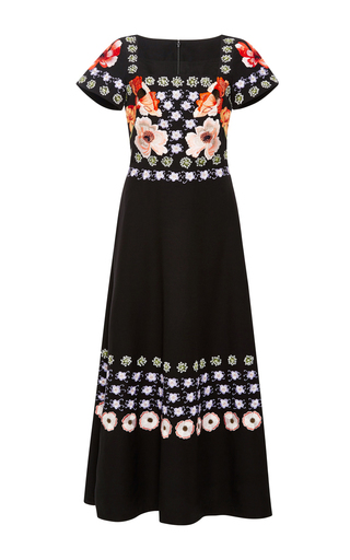 Medium temperley london black sylvie embroidered dress