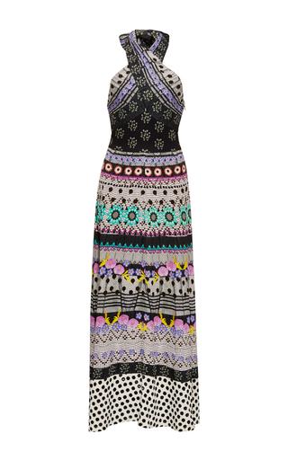 Medium temperley london print cherise halter neck dress