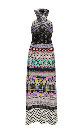 Medium temperley london print cherise halter neck dress