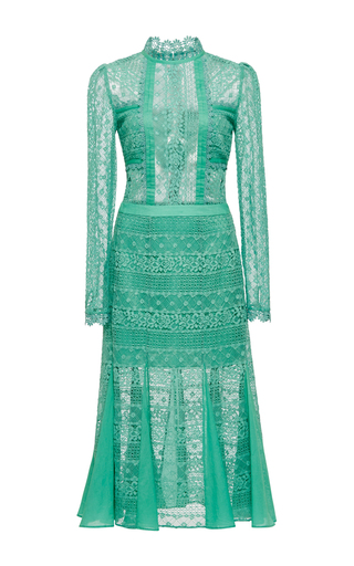 Medium temperley london green desdemona lace dress