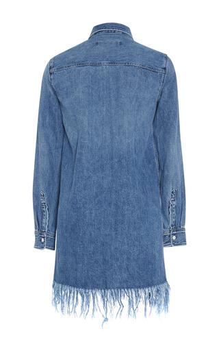 Denim Fringed Shirt Dress by 3X1 Now Available on Moda Operandi
