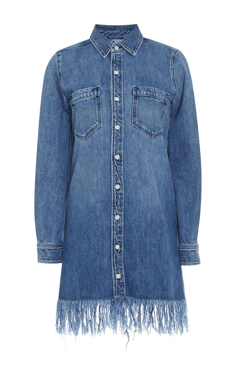 Denim Fringed Shirt Dress By 3x1 Moda Operandi