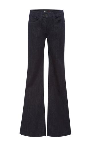 Medium 3x1 dark wash midrise bell bottom jeans