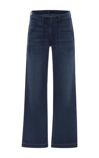 Medium 3x1 dark wash w2 military cropped jeans