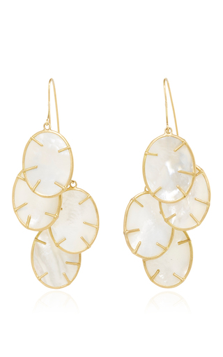 Medium annette ferdinandsen yellow silver dollar cluster earring