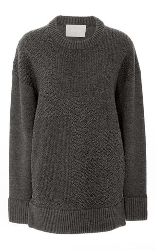 Medium jason wu dark grey cashmere plisse pullover sweater