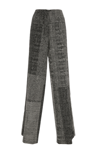 Medium jason wu black menswear jacquard collage wide leg pant