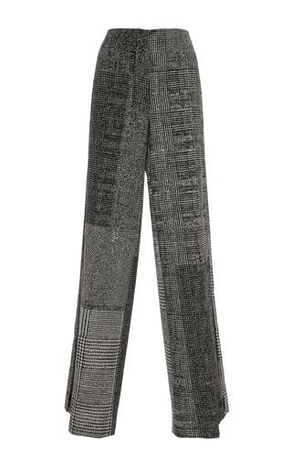 Medium jason wu black menswear jacquard collage wide leg pant