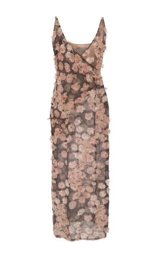 Medium jason wu pink floral chiffon v neck sleeveless dress
