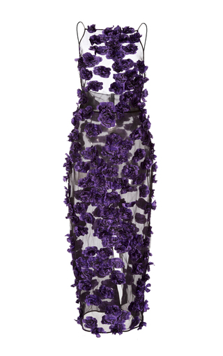 Medium jason wu purple floral sleeveless fil coupe dress
