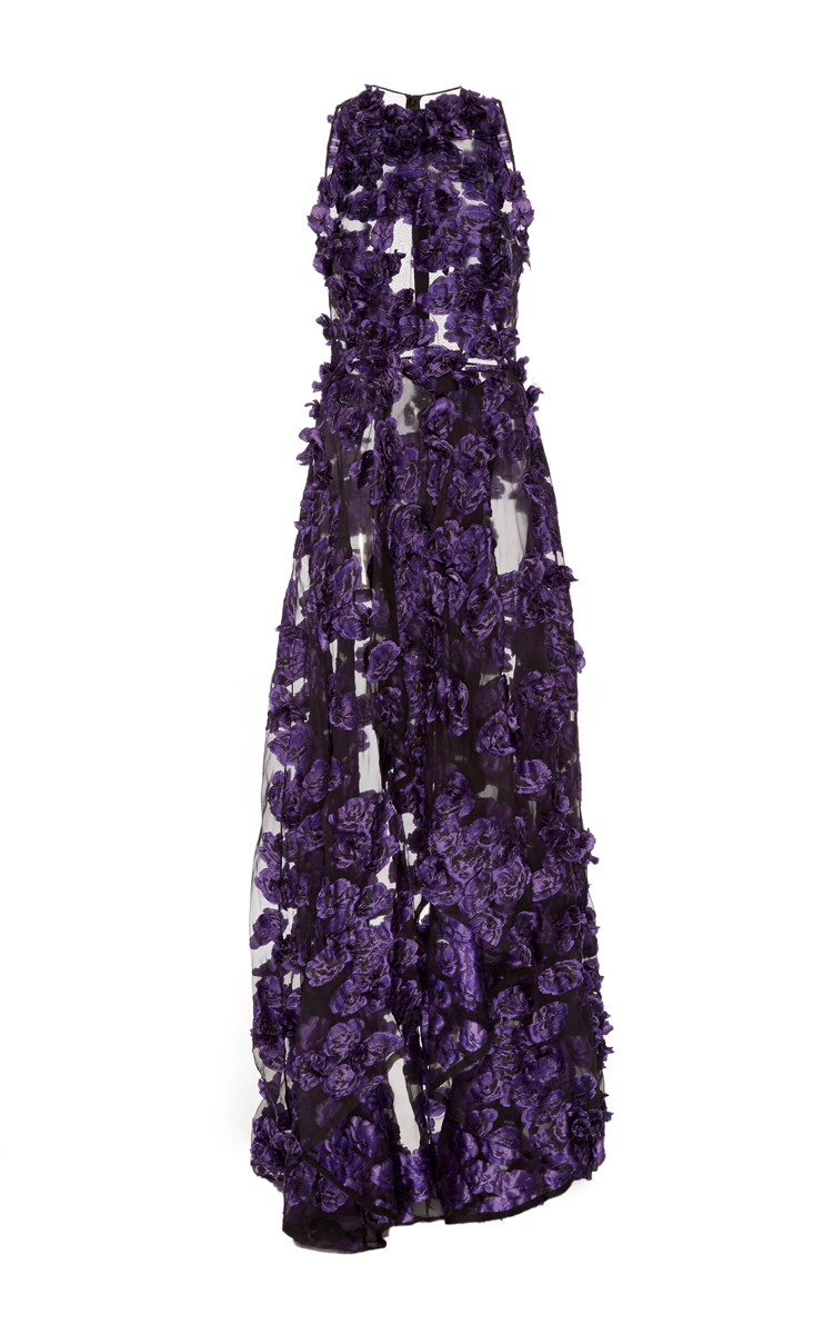 Floral Fil Coupe Gown With Draped Front by Jason Wu | Moda Operandi