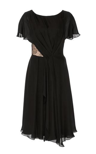 Medium jason wu black silk double georgette dress