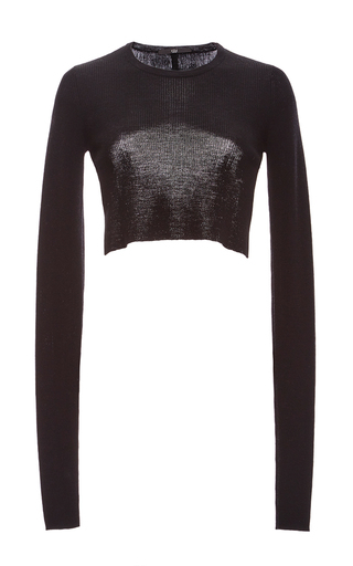Medium tibi black merino wool bolero pullover