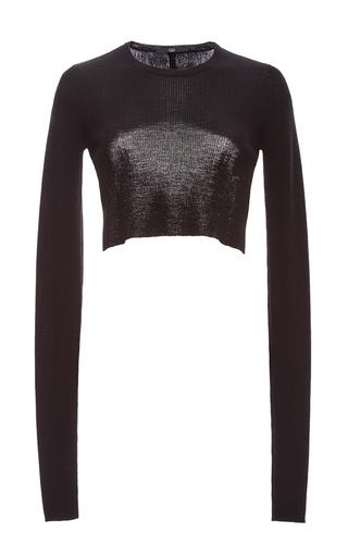 Medium tibi black merino wool bolero pullover