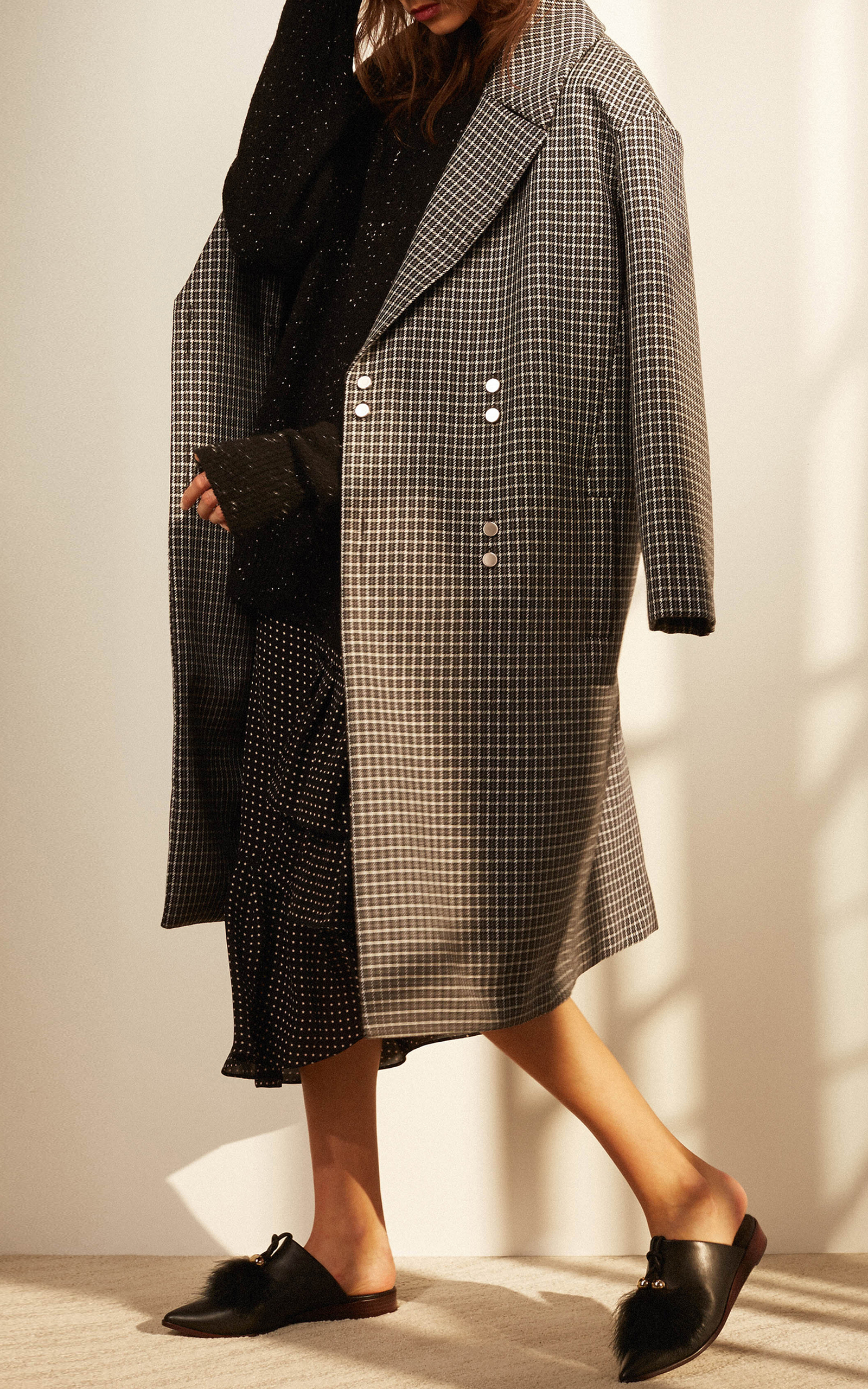 Houndstooth Wool Coat by Tibi | Moda Operandi