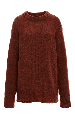 Medium tibi brown mohair tunic pullover