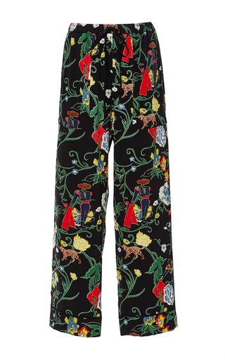 Medium tibi black seville crepe de chine pajama pant