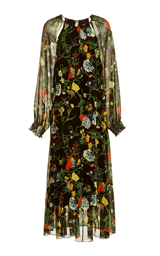 Medium tibi print josephina silk dress