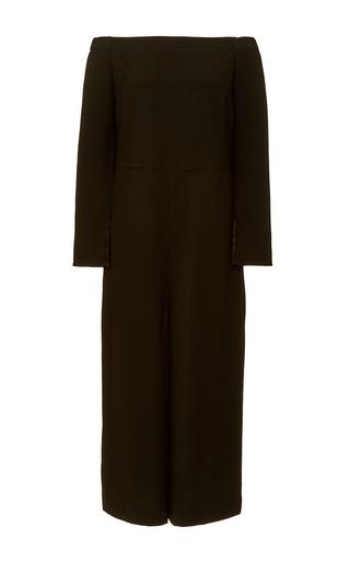 Medium tibi black off shoulder culotte jumpsuit