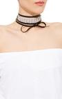 Monarch Dotted Pearl Wrap Choker by FALLON Now Available on Moda Operandi
