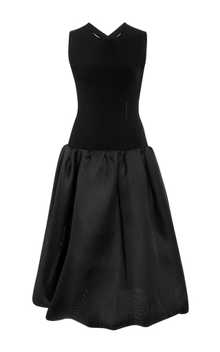 Medium oscar de la renta black cross back dress