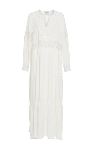 Medium sea ivory cream embroidered long sleeve dress