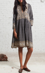 Silk Sabine Border Dress by SEA Now Available on Moda Operandi