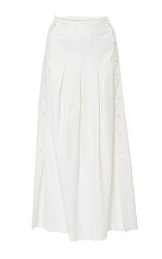Medium sea ivory crepe skirt
