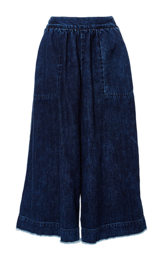 Medium sea blue denim culottes